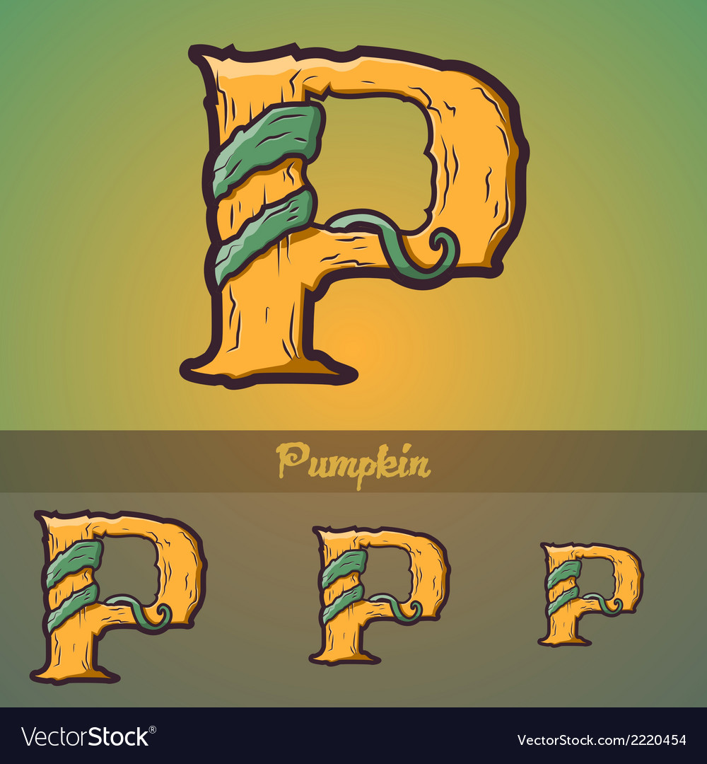 Halloween decorative alphabet - p letter vector | Price: 1 Credit (USD $1)