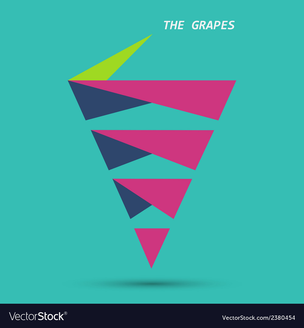 Modern grapes design eps10 vector | Price: 1 Credit (USD $1)