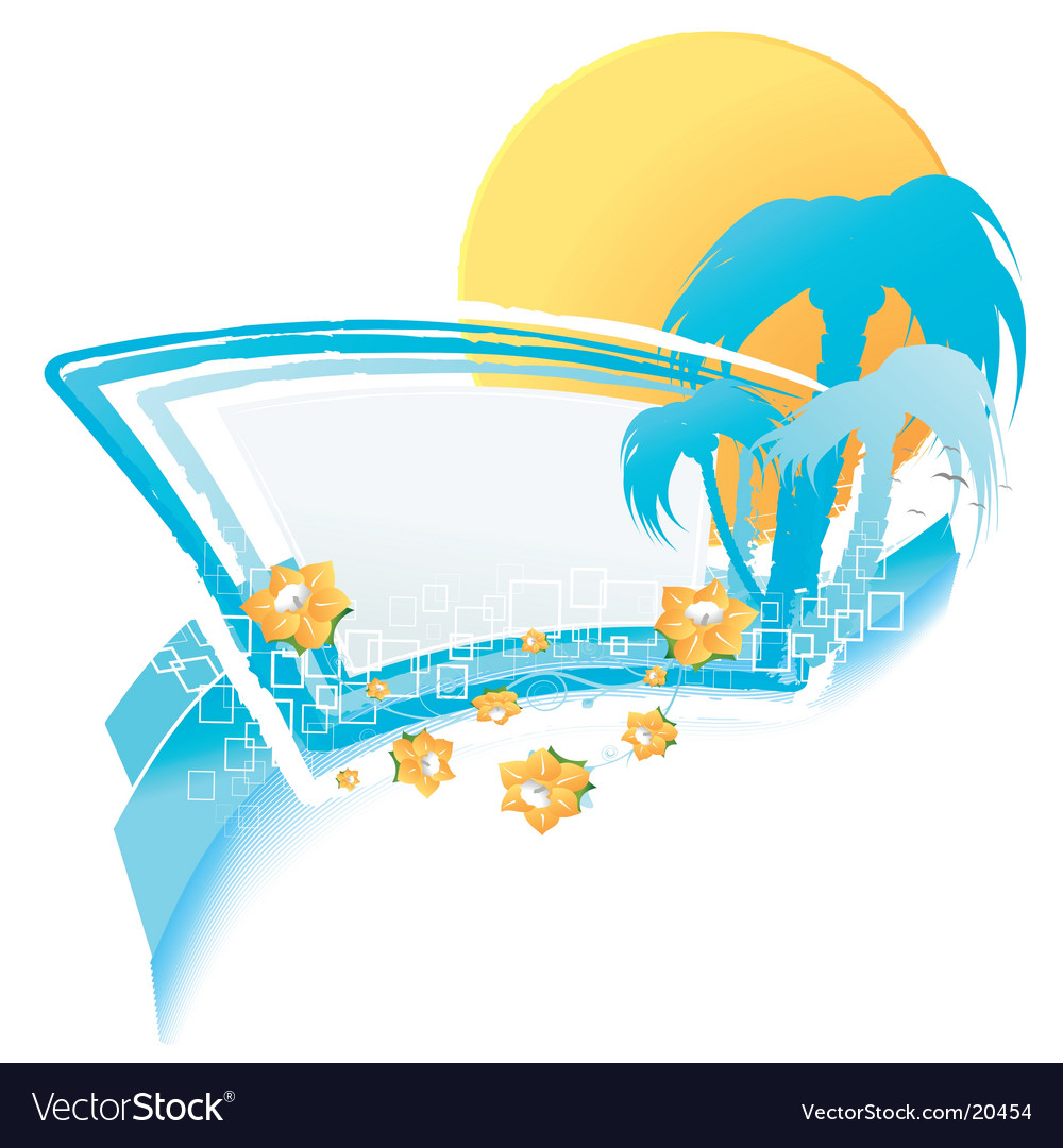 Summer relaxation design element vector | Price: 1 Credit (USD $1)