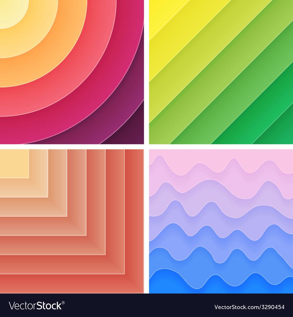 Trendy geometric gradient background pack vector   Price: 1 Credit (USD $1)