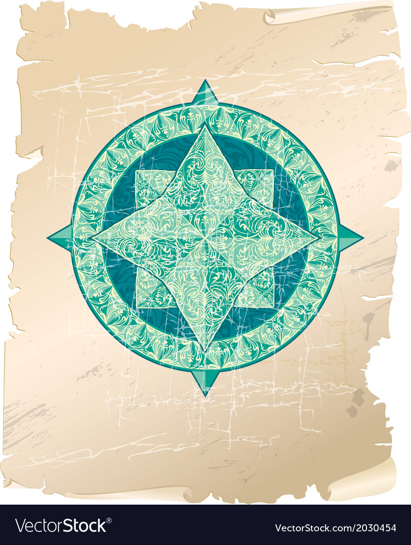 Wind rose parchment 380 vector | Price: 1 Credit (USD $1)