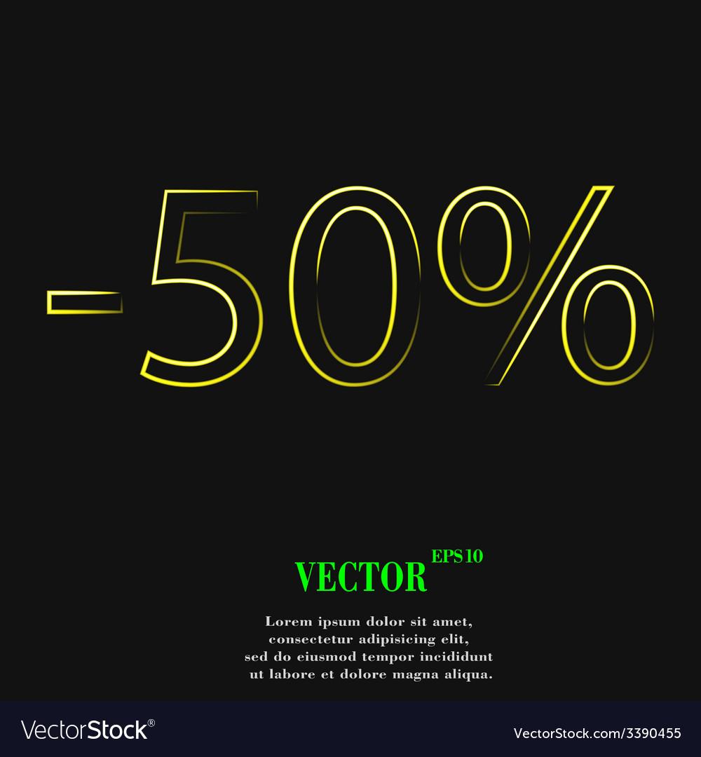 50 percent discount icon symbol flat modern web vector | Price: 1 Credit (USD $1)