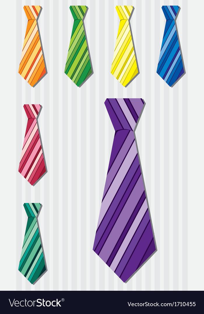 Bright horizontal stripe silk tie stickers in vector | Price: 1 Credit (USD $1)