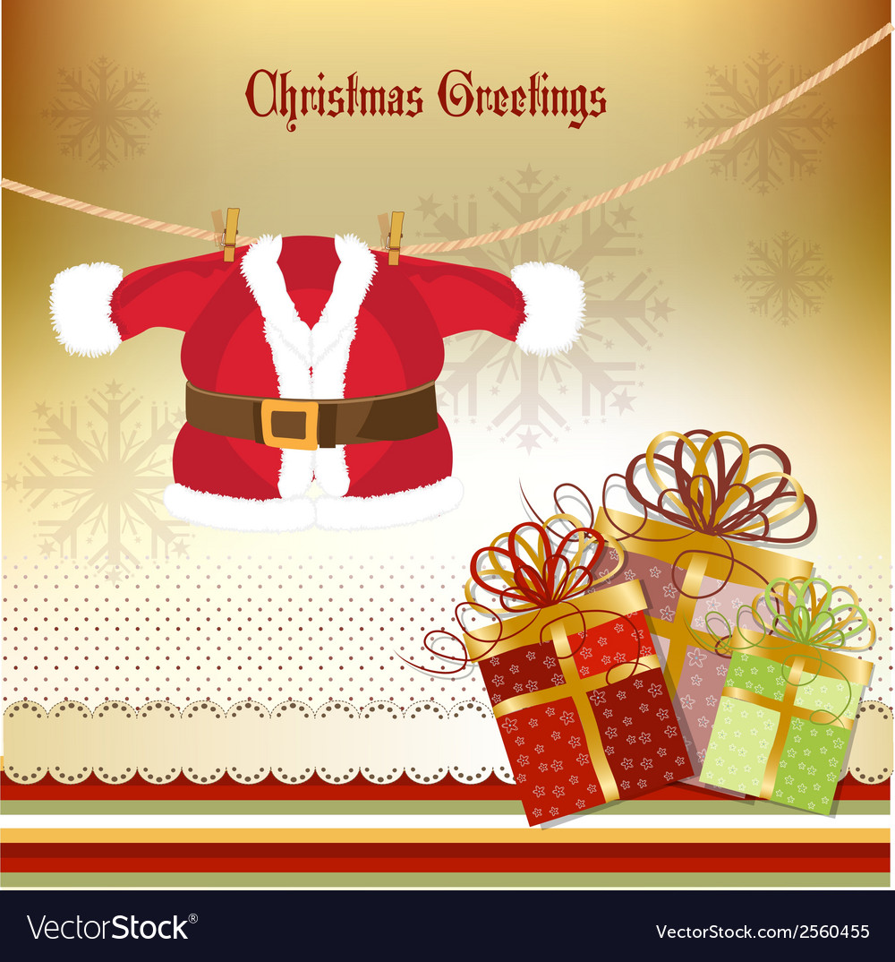 Christmas greetings card vector | Price: 1 Credit (USD $1)