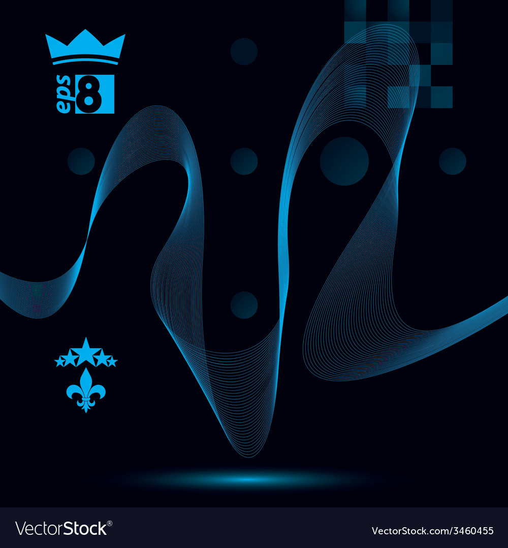 Elegant flowing lines background royal design eps8 vector   Price: 1 Credit (USD $1)