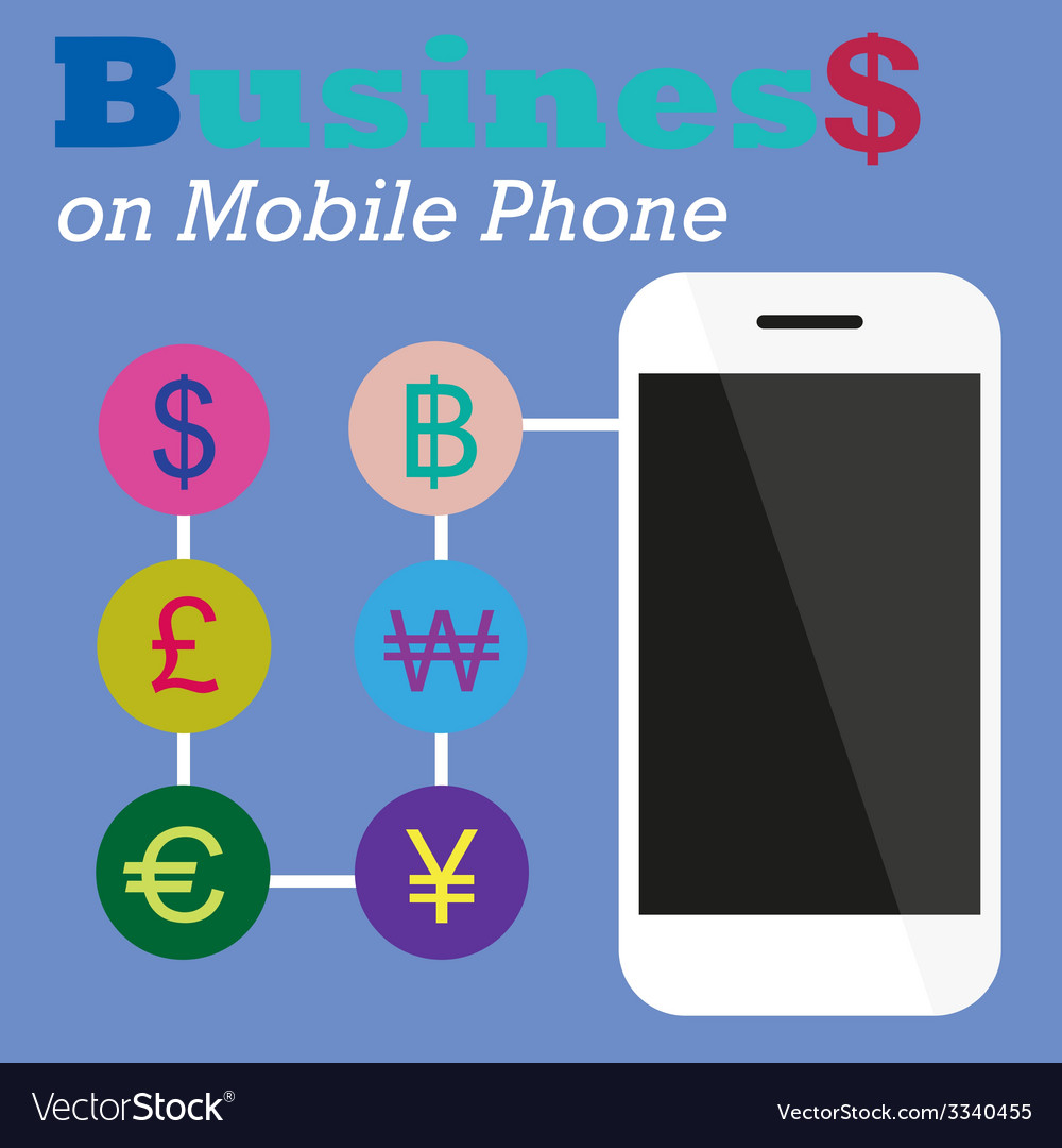 Info graphic business on mobile phone vector | Price: 1 Credit (USD $1)