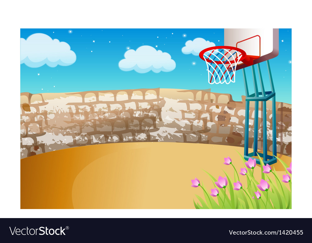Street basketball background vector | Price: 1 Credit (USD $1)