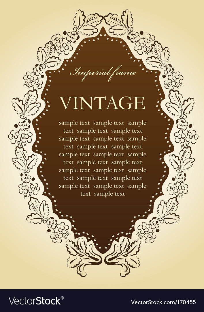 Vintage vignette frame vector | Price: 1 Credit (USD $1)