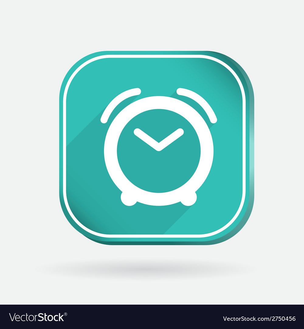 Alarm clock color square icon vector | Price: 1 Credit (USD $1)