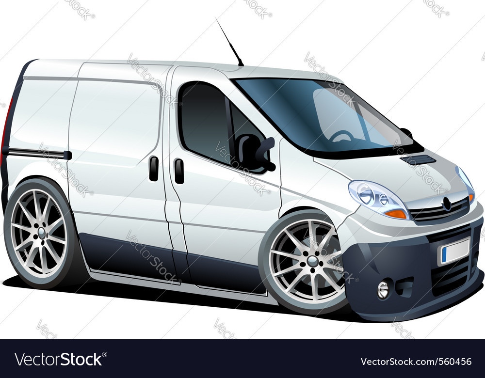 Cartoon cargo van vector | Price: 3 Credit (USD $3)