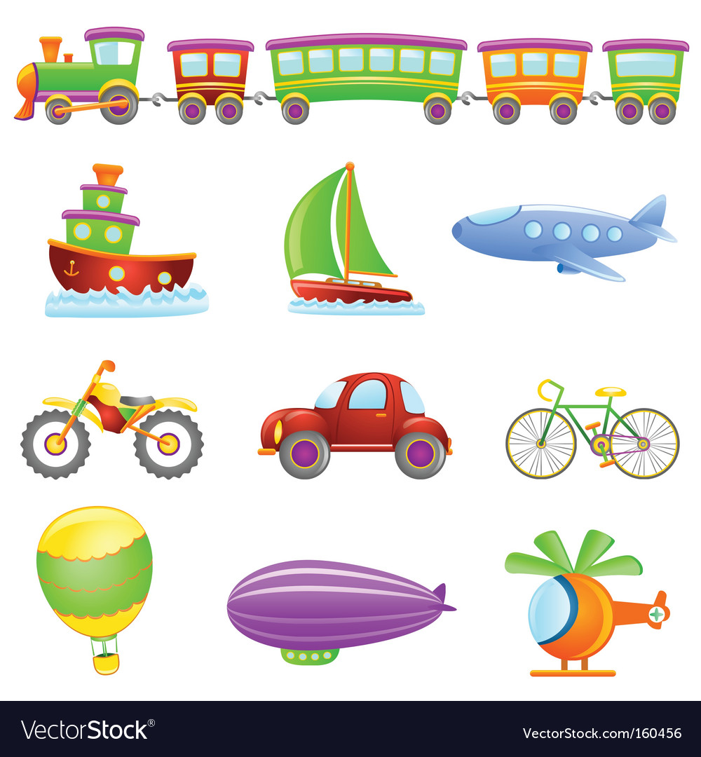 Cartoon transportation vector | Price: 1 Credit (USD $1)