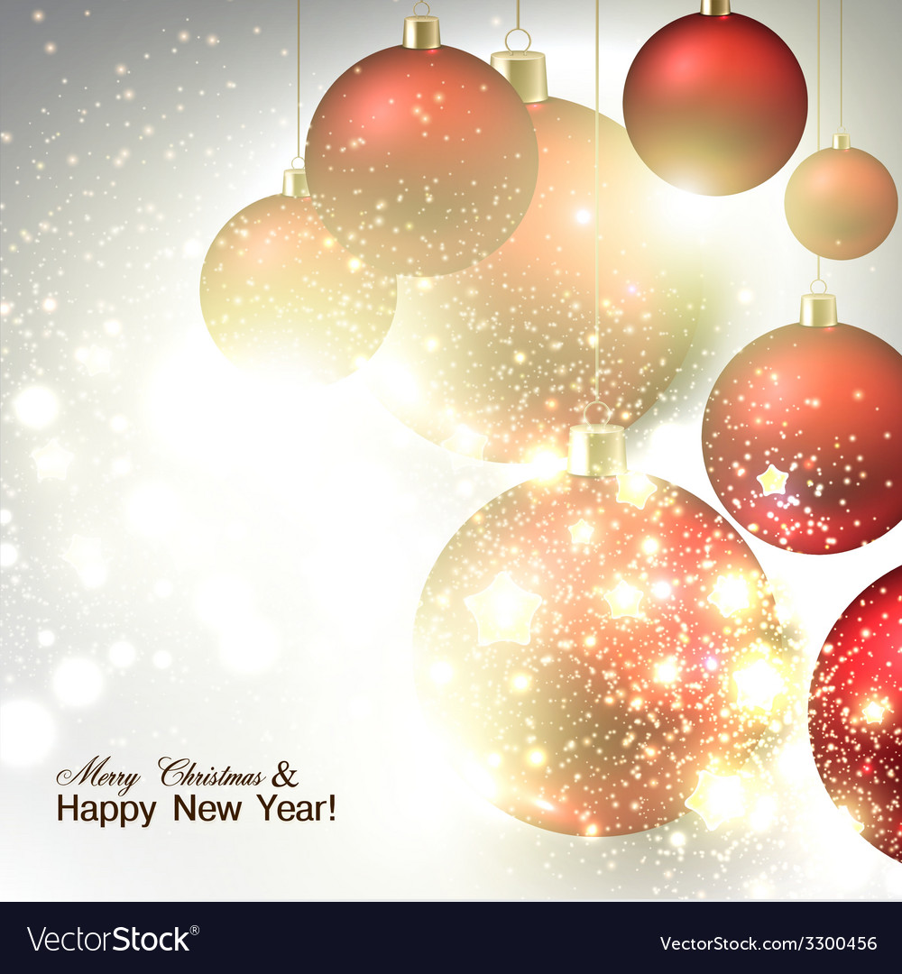 Christmas background with red christmas balls and vector | Price: 3 Credit (USD $3)