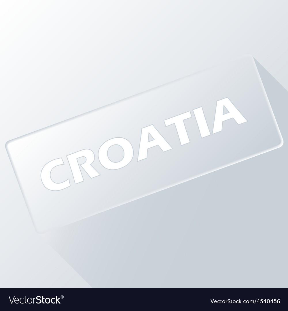 Croatia unique button vector | Price: 1 Credit (USD $1)