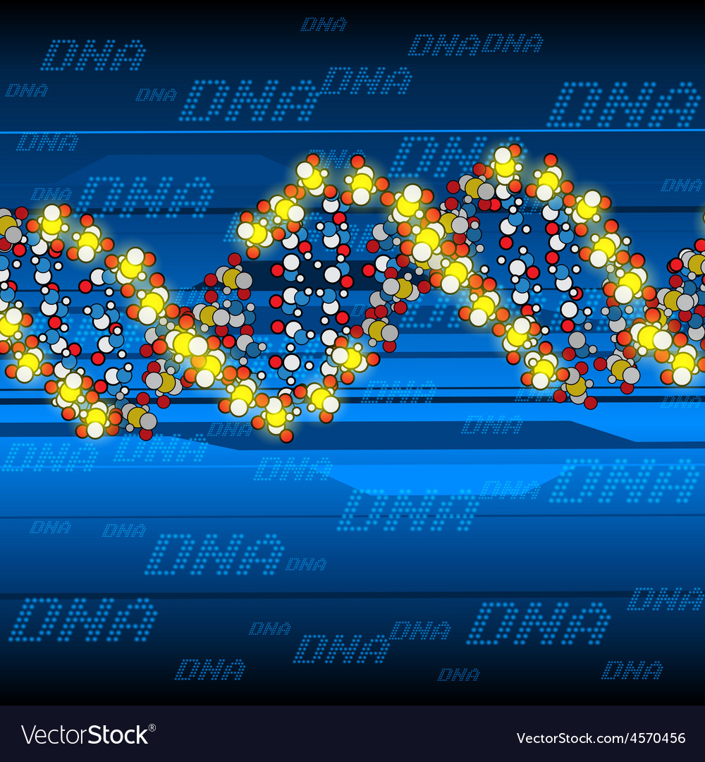 Glow dna structure vector
