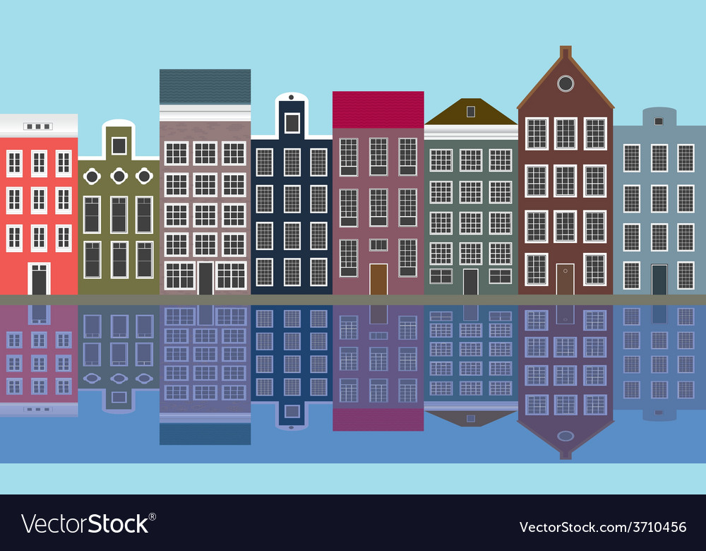 Houses of the old european city vector | Price: 1 Credit (USD $1)