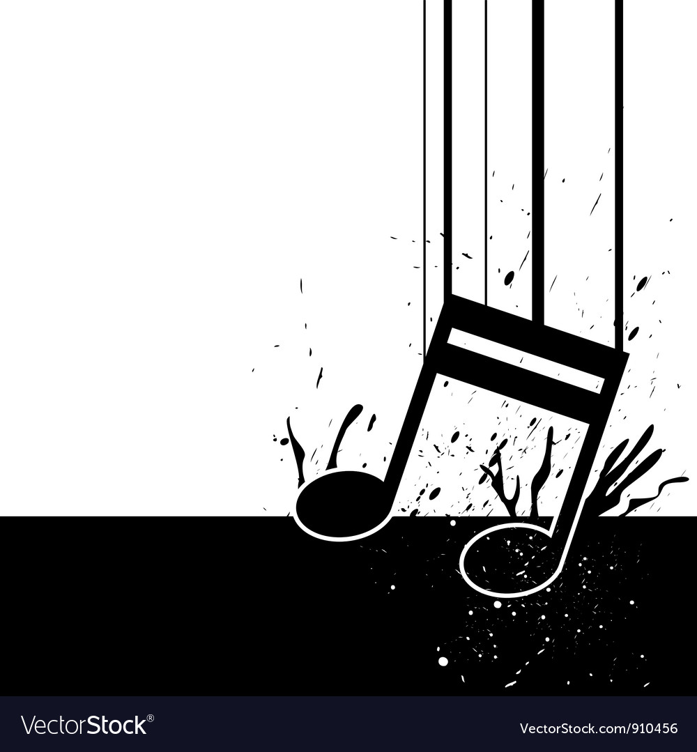 Music note fall down vector | Price: 1 Credit (USD $1)