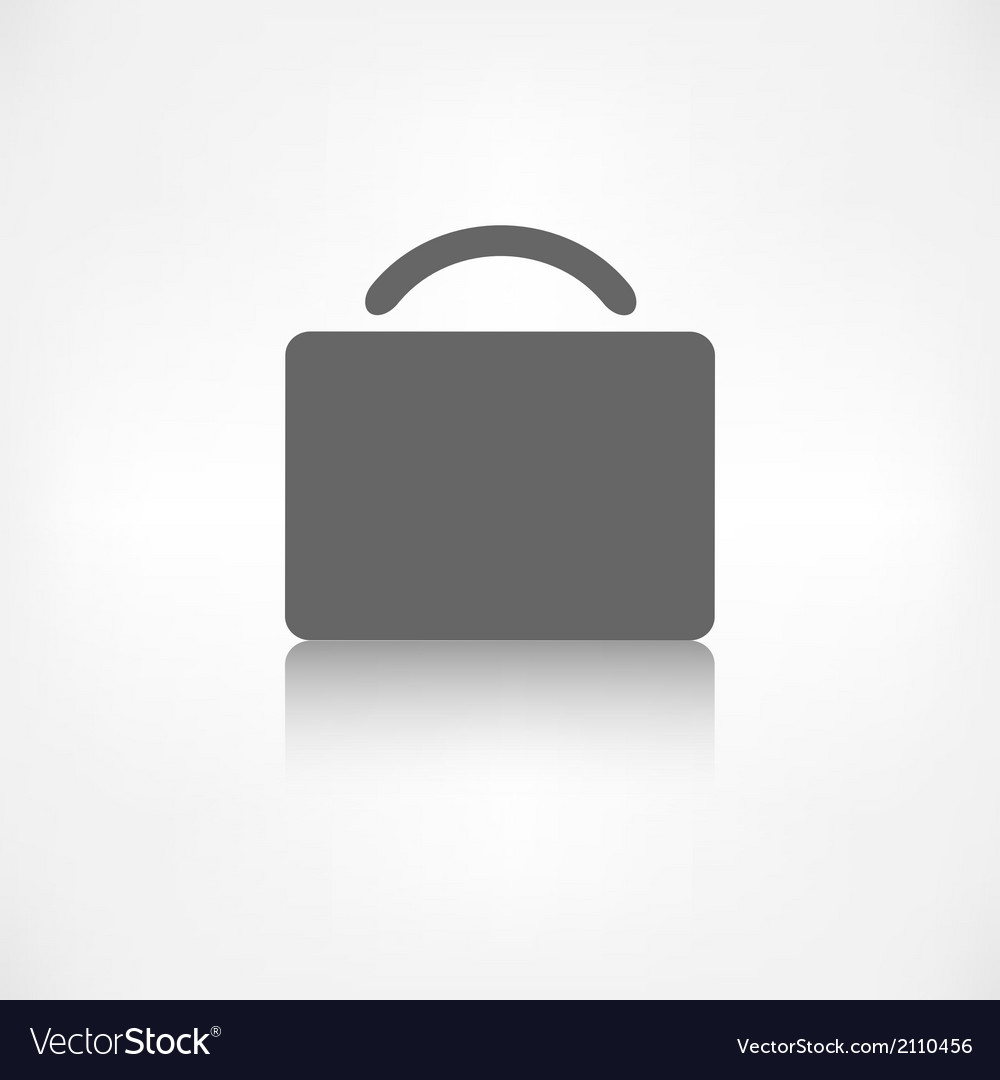 Portfolio web icon bag symbol vector | Price: 1 Credit (USD $1)