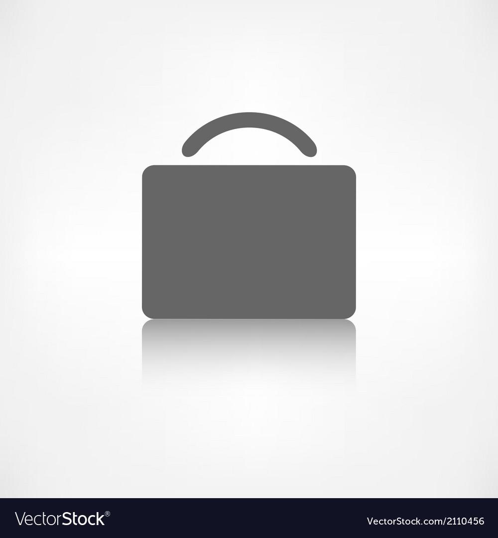 Portfolio web icon bag symbol vector   Price: 1 Credit (USD $1)