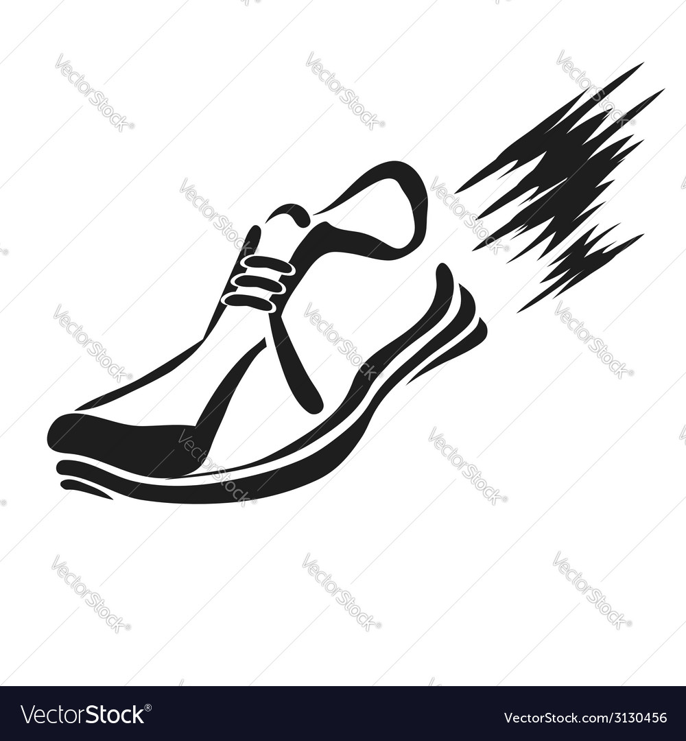 Ranning shoe icon vector | Price: 1 Credit (USD $1)