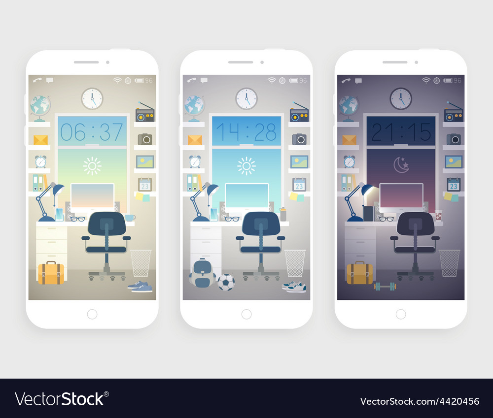 Set of wallpapers for mobile phone vector