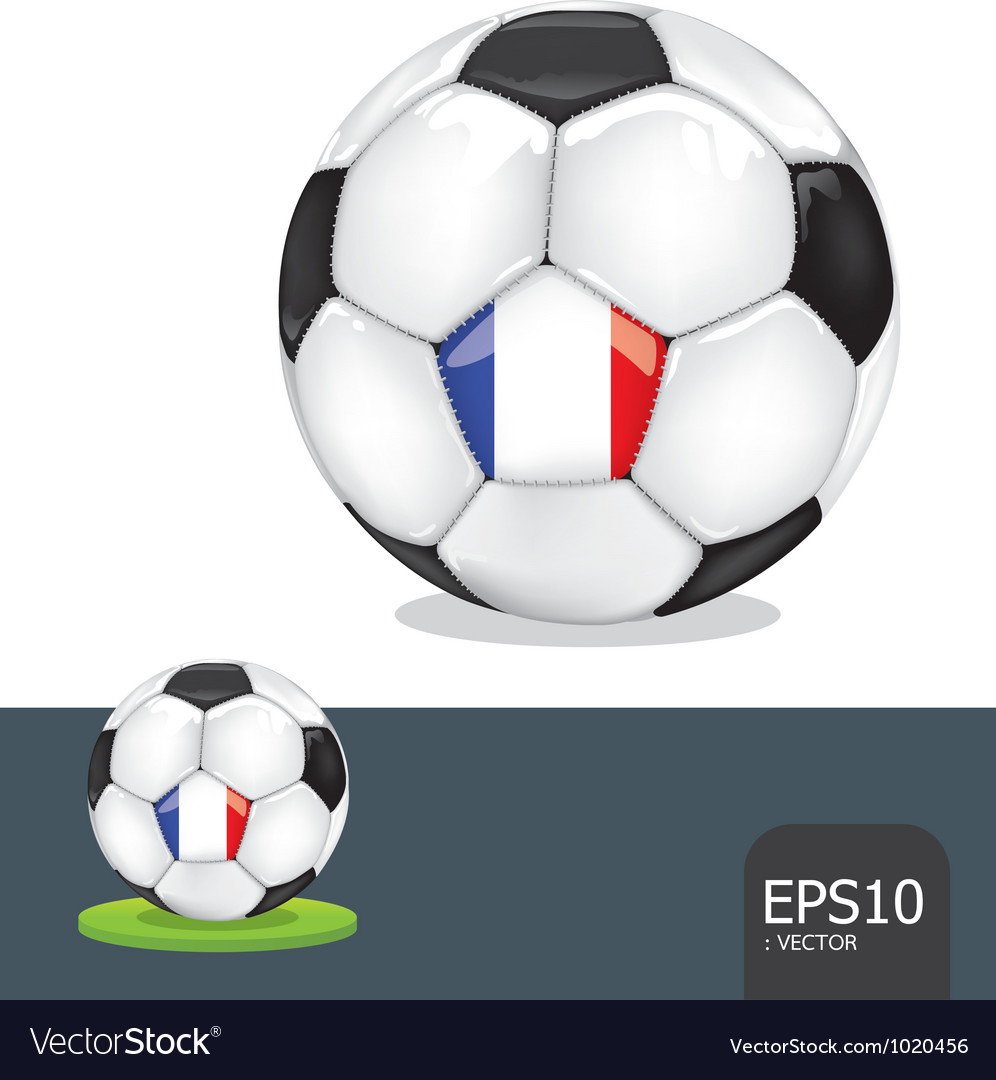 Soccer euro france vector | Price: 1 Credit (USD $1)