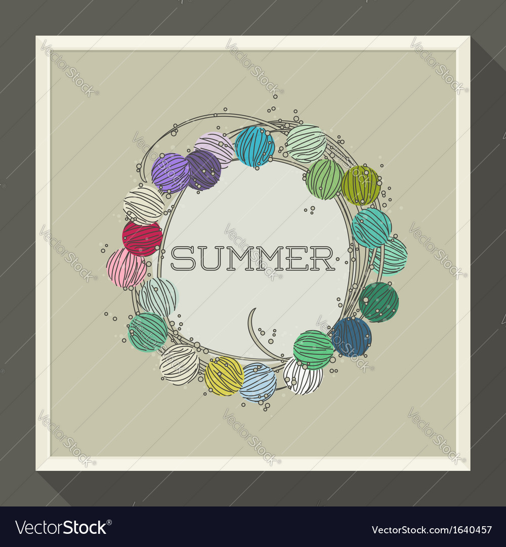 Abstract summer design with colorful beads vector | Price: 1 Credit (USD $1)