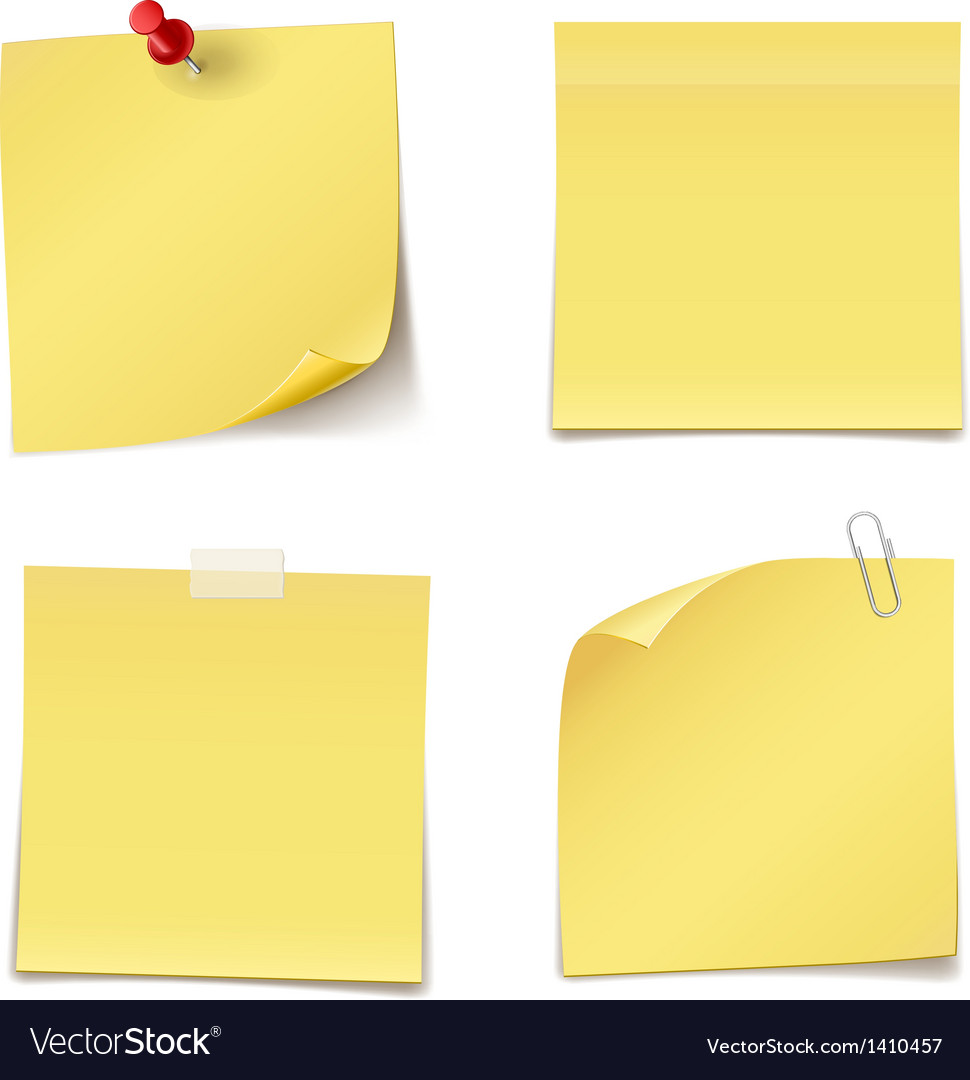 Adhesive notes vector | Price: 1 Credit (USD $1)