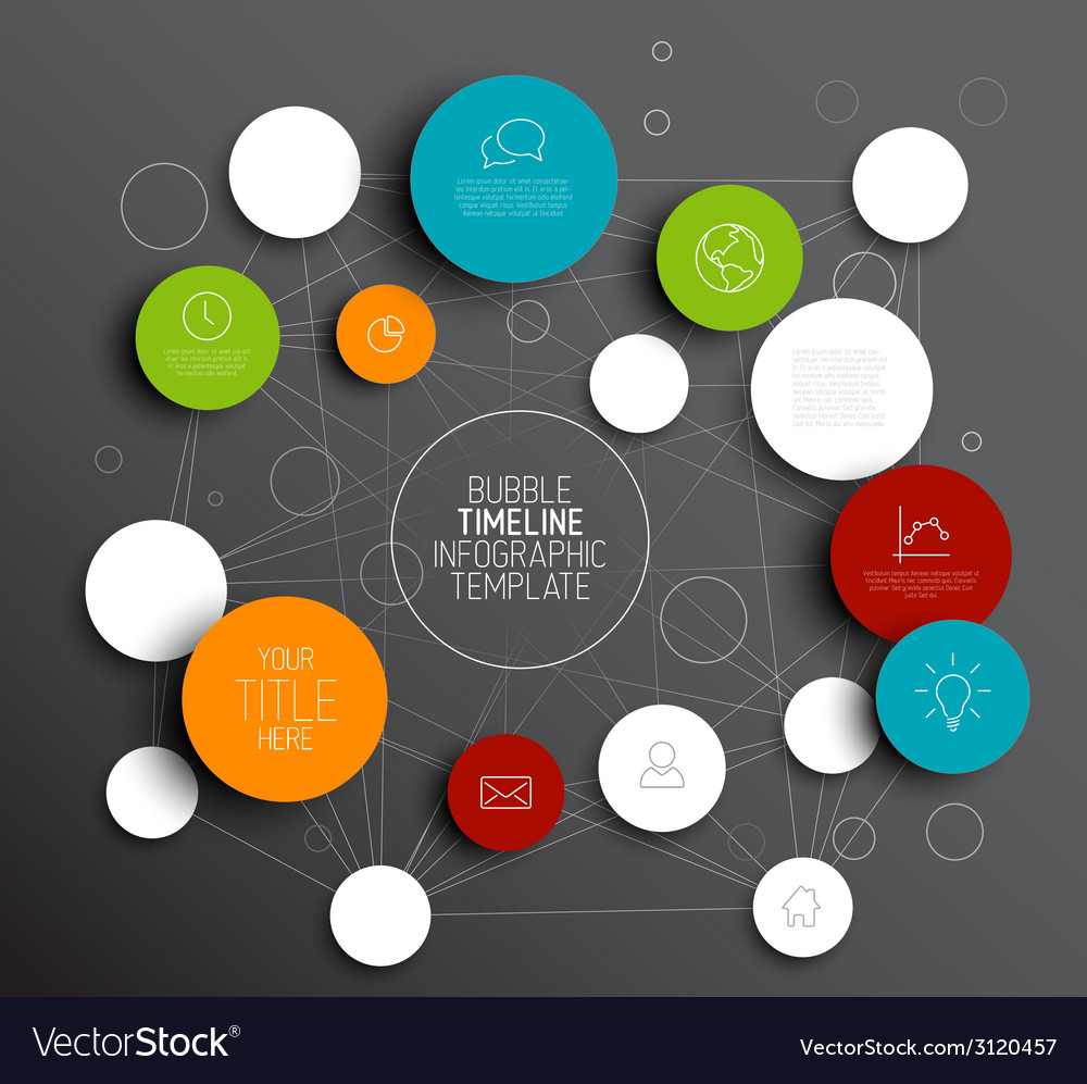 Dark abstract circles infographic template vector | Price: 1 Credit (USD $1)