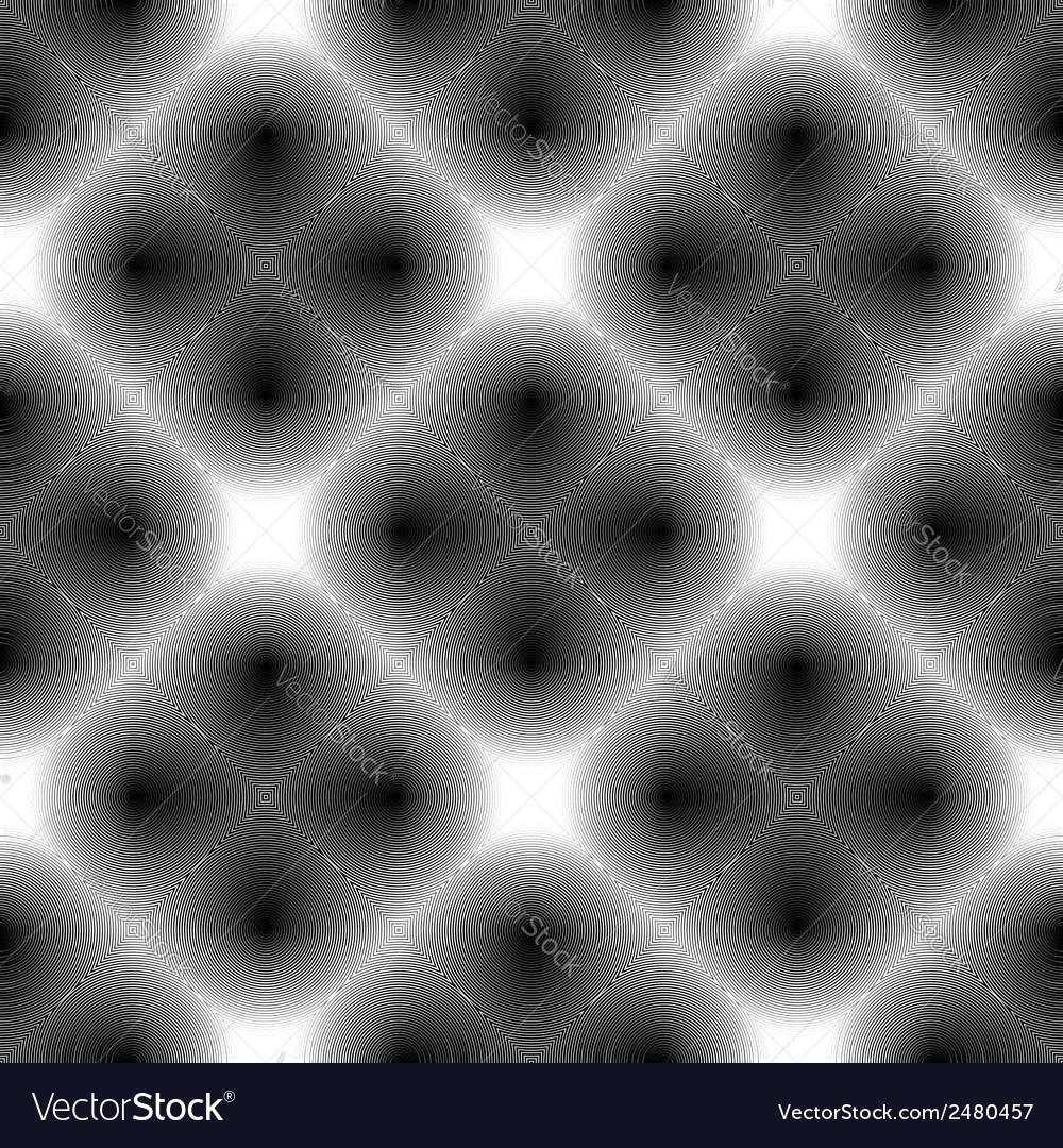 Design seamless monochrome checked diamond pattern vector | Price: 1 Credit (USD $1)