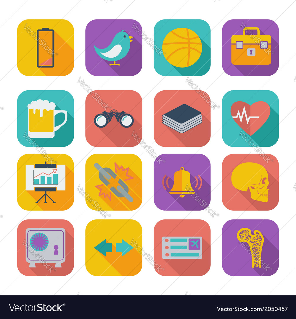 Flat icons for web design set 2 vector | Price: 1 Credit (USD $1)
