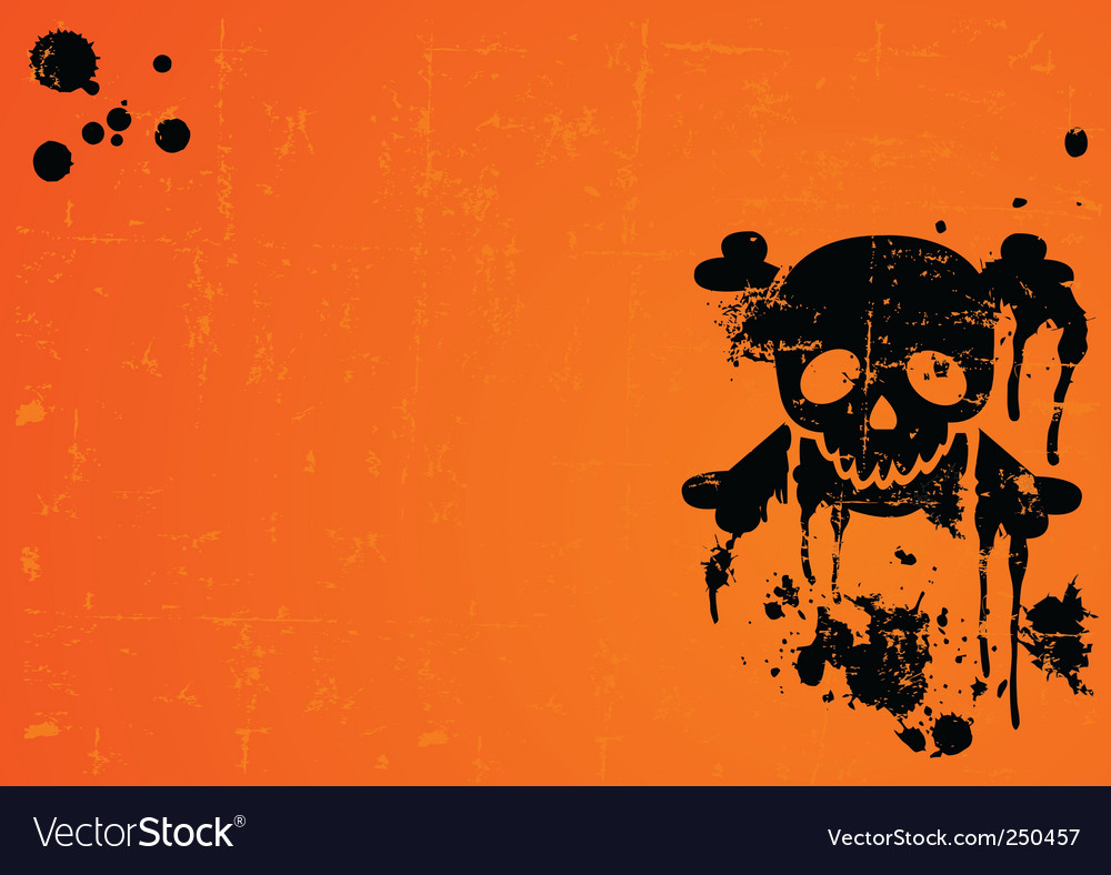 Halloween skull background vector | Price: 1 Credit (USD $1)