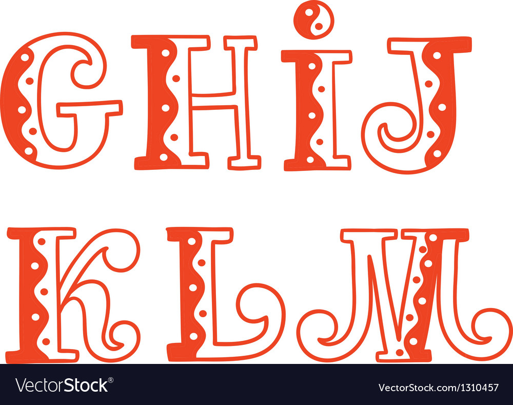 Hand drawn alphabet vector | Price: 1 Credit (USD $1)