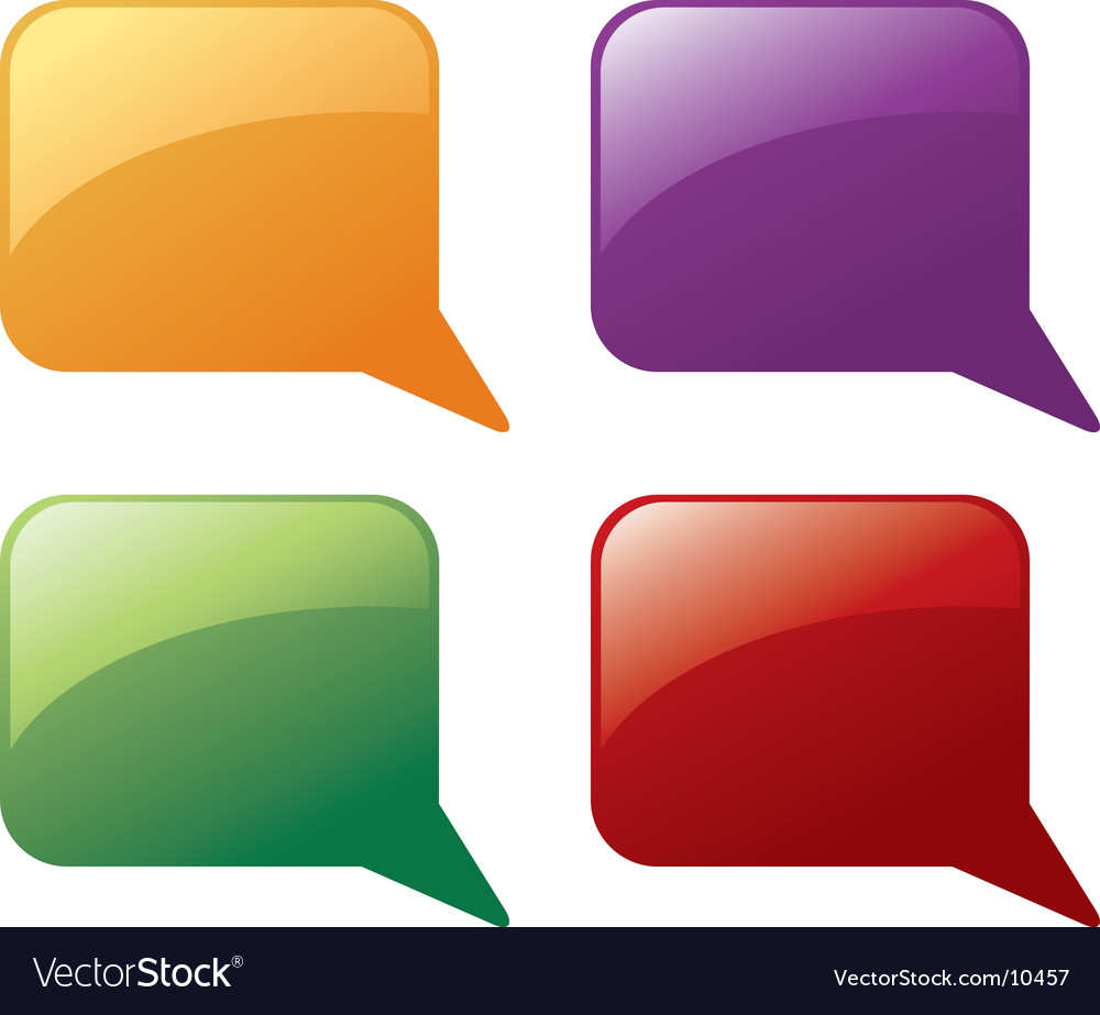 Message balloons vector | Price: 1 Credit (USD $1)