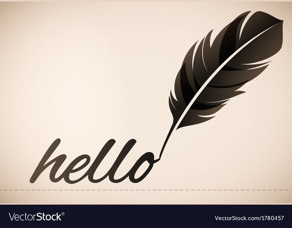 Quill pen text background vector | Price: 1 Credit (USD $1)