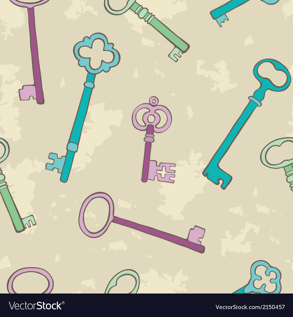 Retro keys background vector | Price: 1 Credit (USD $1)