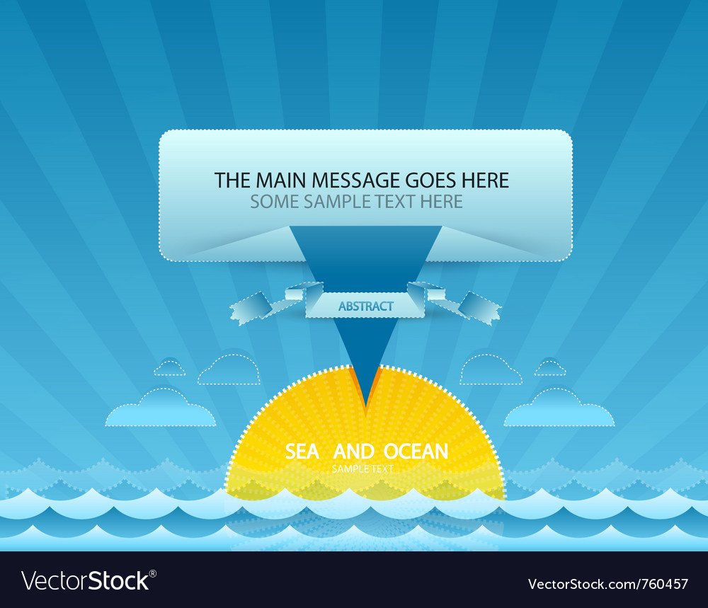 Sea message design vector | Price: 1 Credit (USD $1)