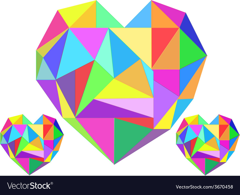 Abstract heart geometrical vector | Price: 1 Credit (USD $1)