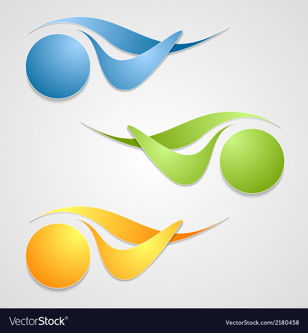 Abstract logo shapes template design vector | Price: 1 Credit (USD $1)