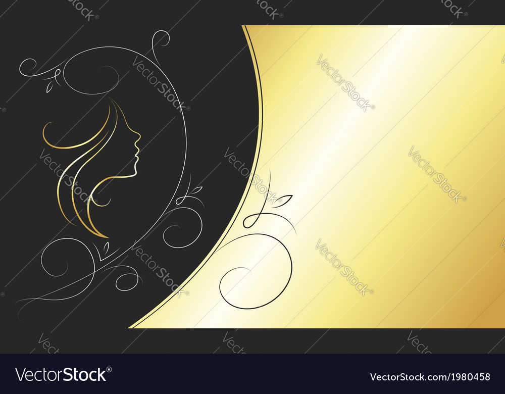 Card for beauty salon vector | Price: 1 Credit (USD $1)