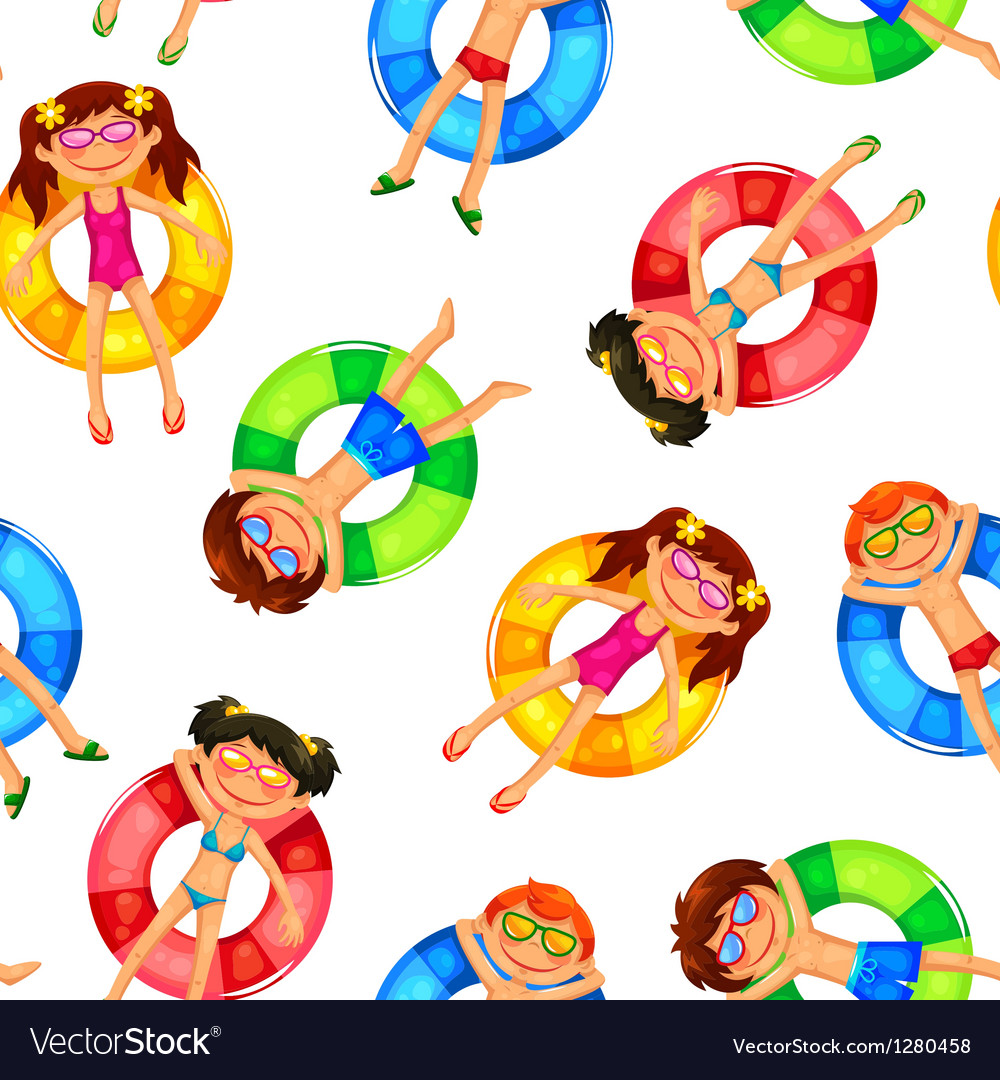 Floating kids pattern vector | Price: 1 Credit (USD $1)