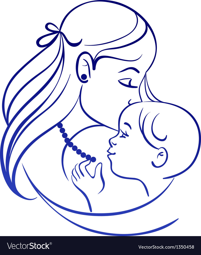 Mother and baby vector | Price: 1 Credit (USD $1)
