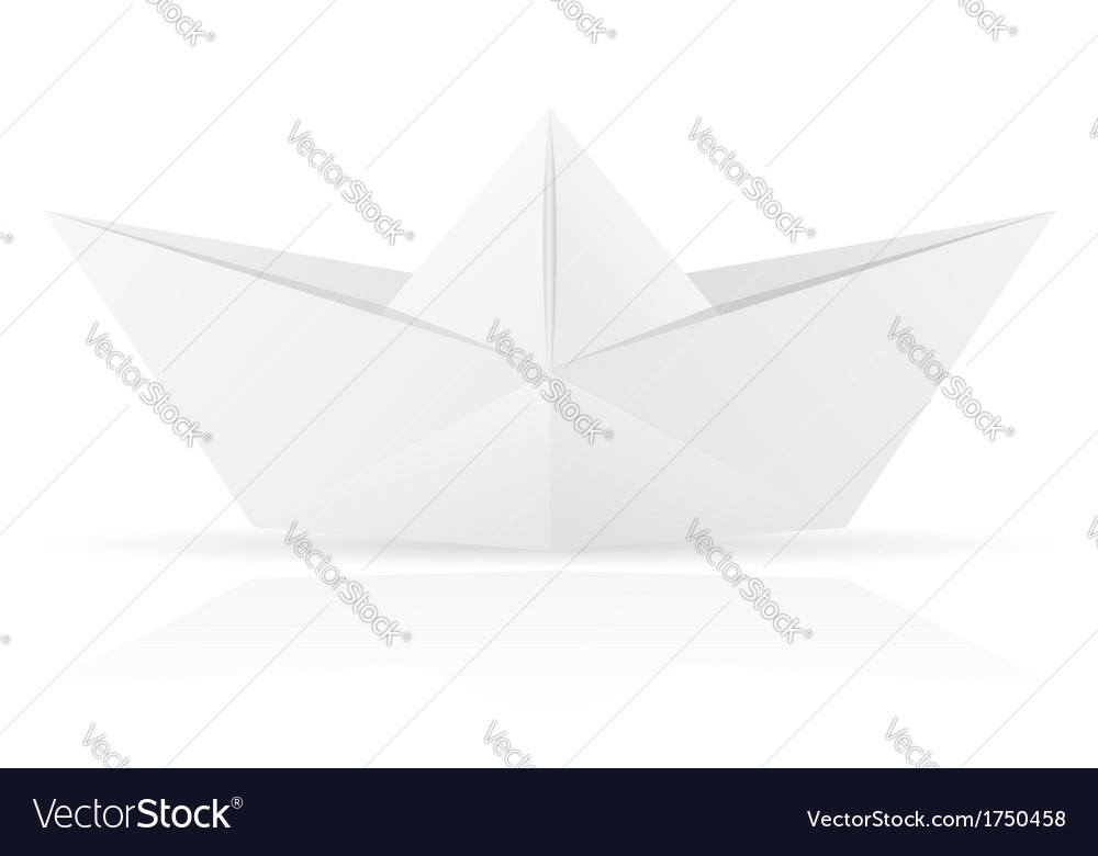 Origami paper boat vector | Price: 1 Credit (USD $1)