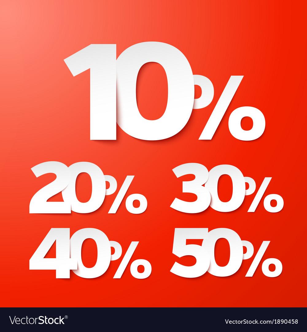 Sale percents vector | Price: 1 Credit (USD $1)