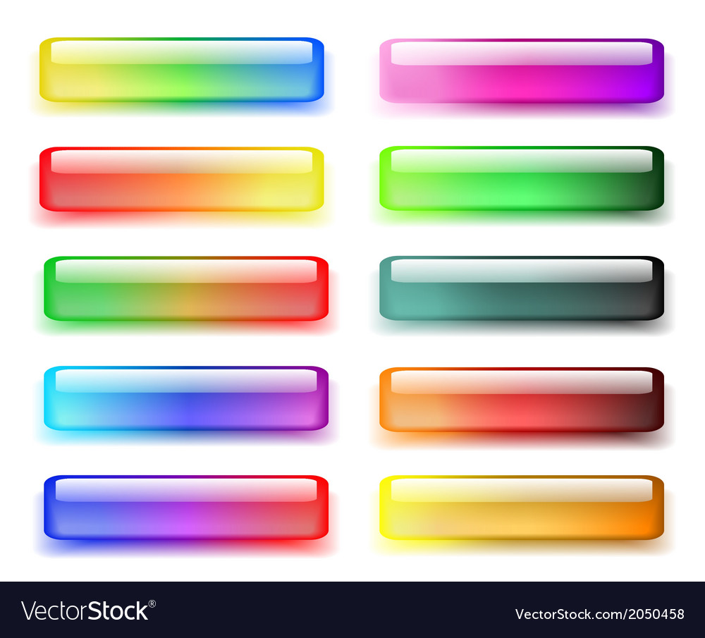 Set of colored buttons vector   Price: 1 Credit (USD $1)