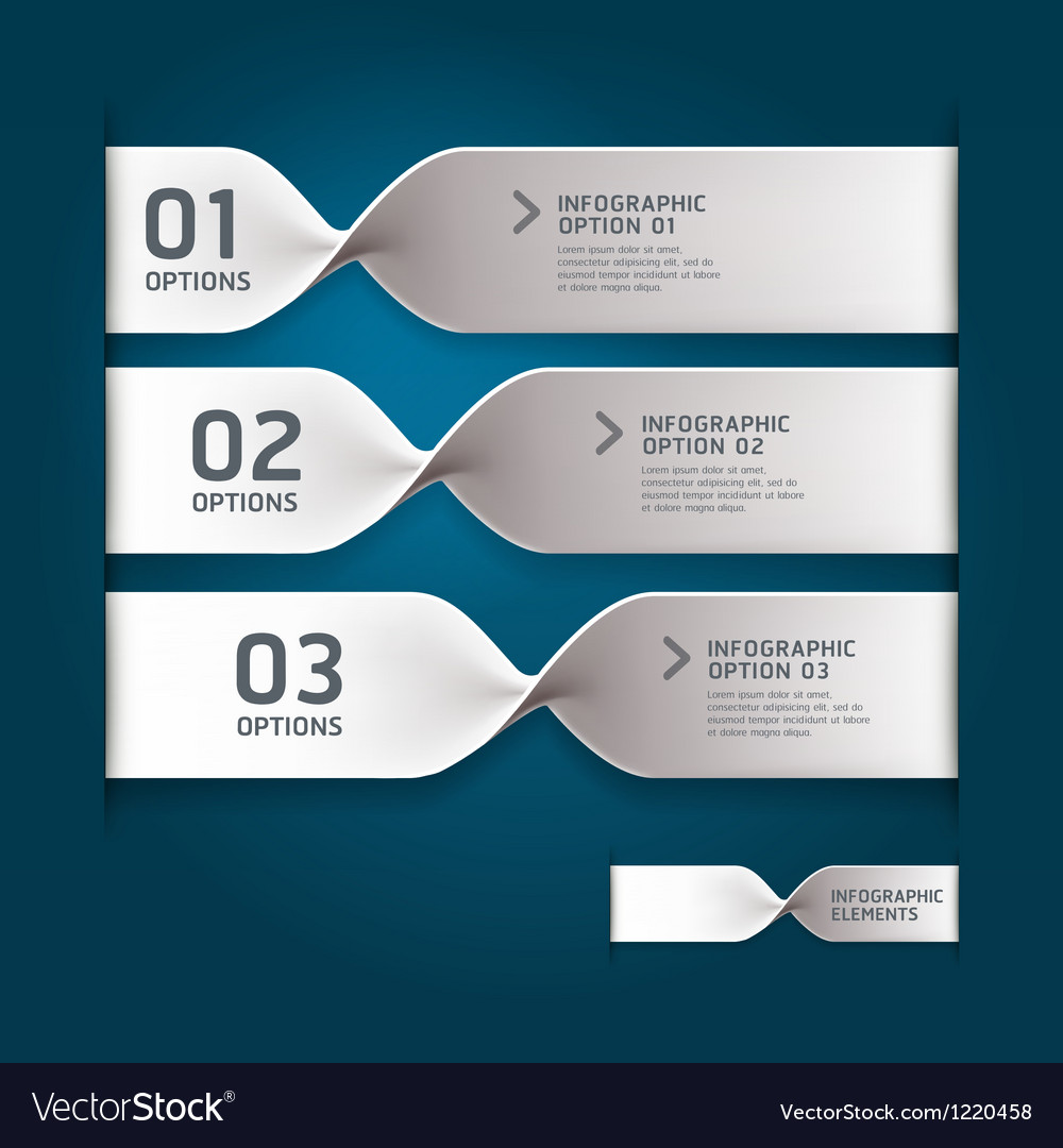 Spiral infographics options banner vector | Price: 3 Credit (USD $3)