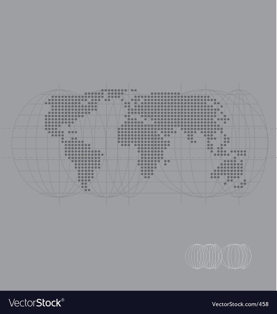 World map high tech vector | Price: 1 Credit (USD $1)