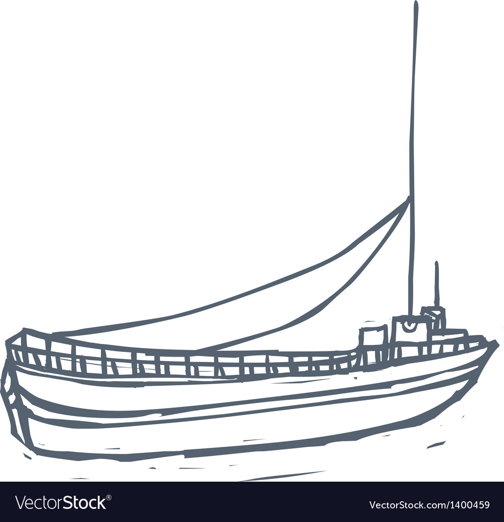 A ship is floating vector | Price: 1 Credit (USD $1)