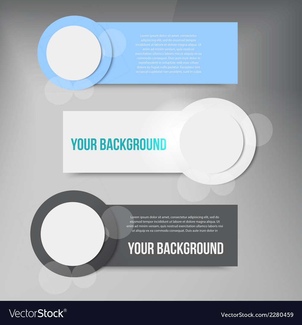 Abstract circles template banner design vector | Price: 1 Credit (USD $1)
