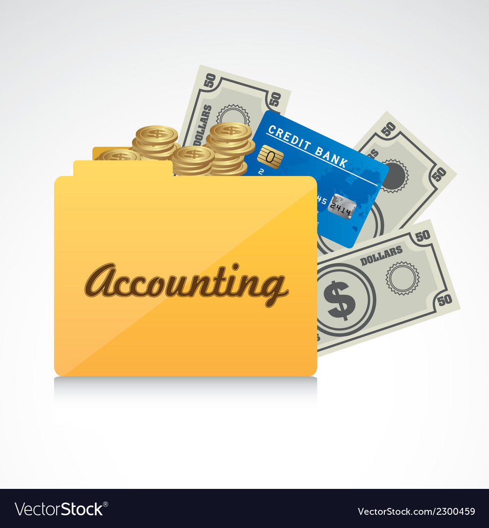 Accounting symbol vector | Price: 1 Credit (USD $1)