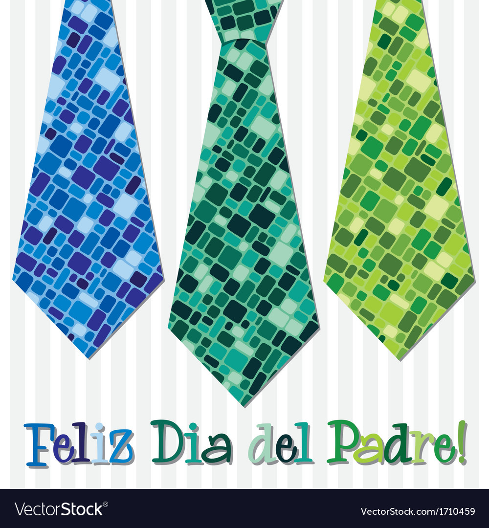 Bright mosaic portuguese happy fathers day neck vector | Price: 1 Credit (USD $1)